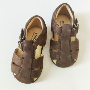 Stride Rite Angler Brown Leather Sandal